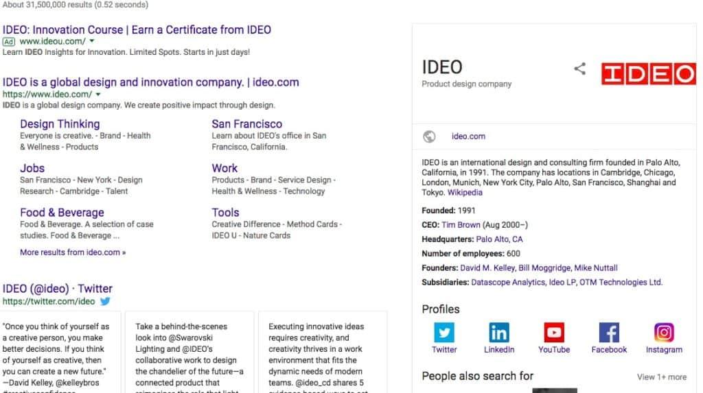 Google Brand Score by IDEO