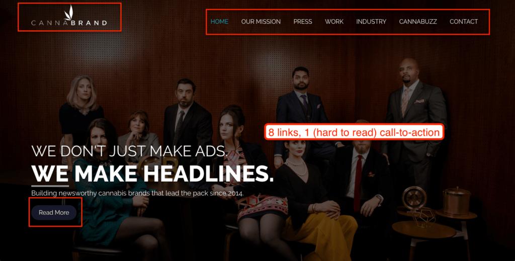 agency website's leadgen UX design